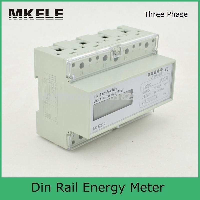 Multi-taux de partage du temps calcul 20 (100) Un 3*230 V/400 V Trois Phase KWH Watt Heure Rail Din Compteur D'énergie LCD Wattmètre