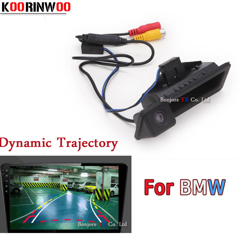 Koorinwoo Dynamic Trajectory Car Rear view Camera For BMW 3/5 Series X5 X1 X6 E39 E46 E53 E82 E88 E84 E90 E91 E92 E93 E60 E61 atreus car led license plate light for bmw e39 e60 m5 e90 e82 e88 e92 e93 e70 x5 e71 e72 x6 no error white smd lamp bulb kit 12v