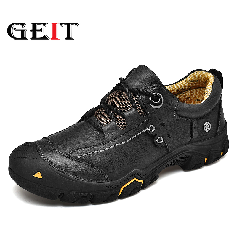 Sneaker Hiking-Shoes Outdoor-Shoes Tactical-Boots Mountain Genuine-Leather Breathable