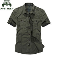 Plus Size Shirt 3xl Outdoor Summer Mens Solid Color Dress Shirts Cargo Cotton Short Sleeve Camisas