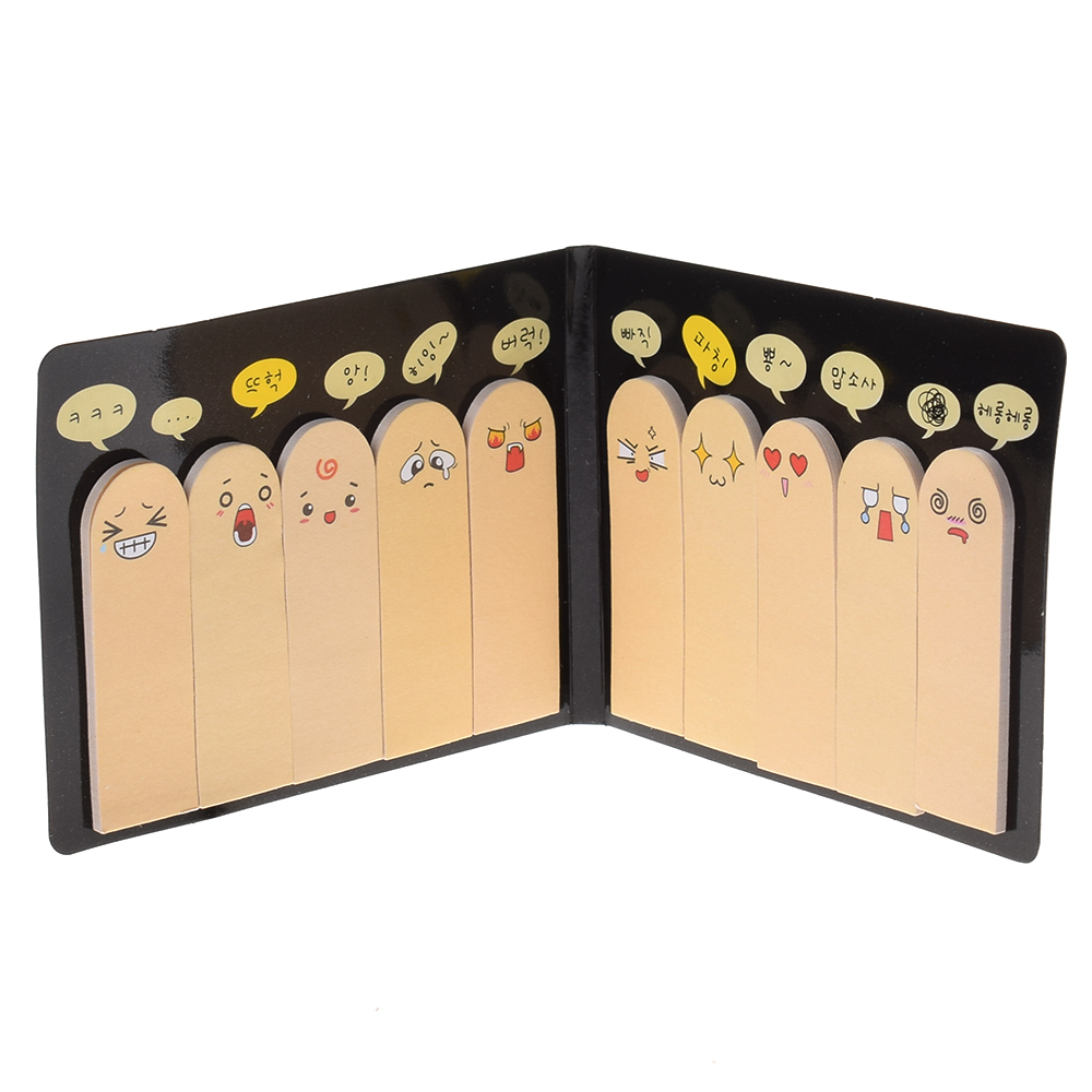 Funny Cute 200 Pages Ten Fingers Sticker Post Bookmark Flags Memo Sticky Notes Pads Convenient Learning Tools Gift HOT
