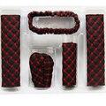 2016 Hand Brake Case & Gear shift case car interior accessory 2PCS/set View Mirror Cover Interior Accessory Set Belts