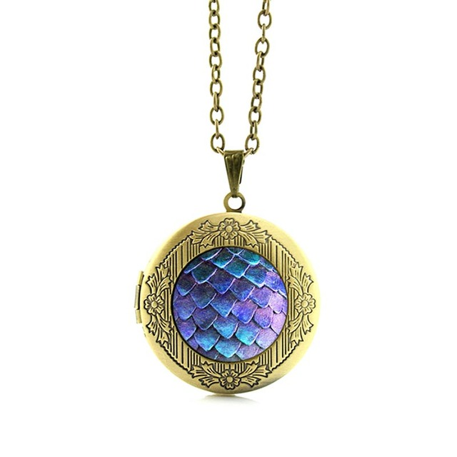 Game of Thrones Dragon Egg Locket Pendant Necklace