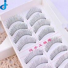 10 Pairs False Fake Lashes Natural Thick Extensions Eyelash Eyebrows Long False Eyelashes Maquiagem Handmade Makeup 2HM7