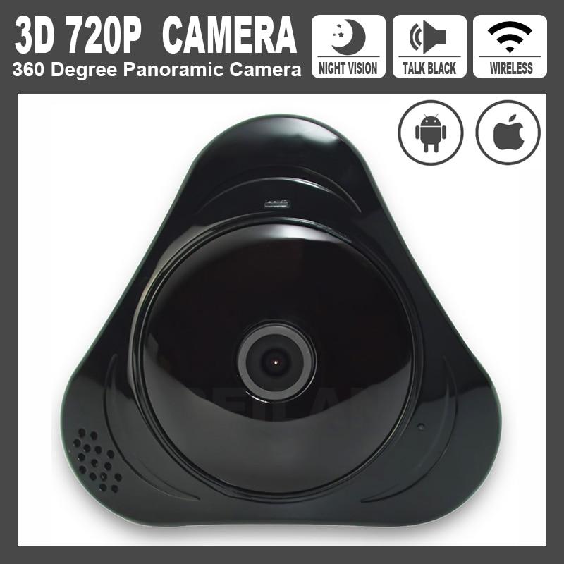 ON-SALE! UFO Panoramic iP Camera 360 Deg Fisheye 720P 1Mega Wireless Camera Night Vision Smart Video Surveillance 3D Wifi Camera