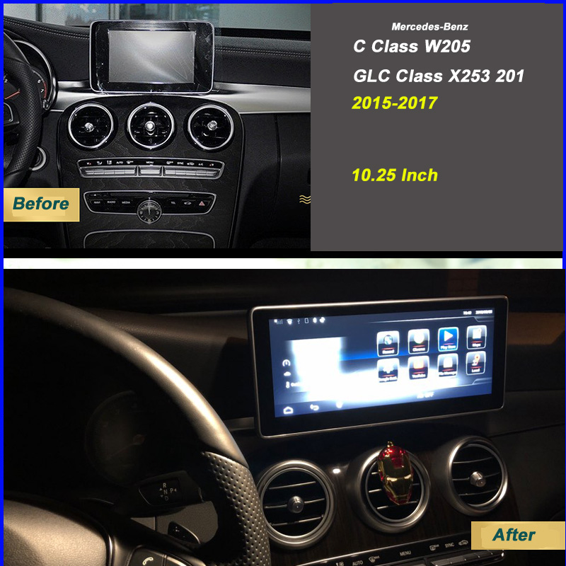 US $614 0  Mercedes Navigation Update W204 W205 Android Carplay Aftermarket  Multimedia DVD Player for GLC C Class Video Console Facelife-in Car
