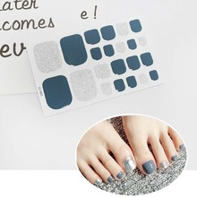 22tips Pre Designed Toenail Sticker Full Cover Waterproof Wraps Toe Nail DIY Art Accessories  D14