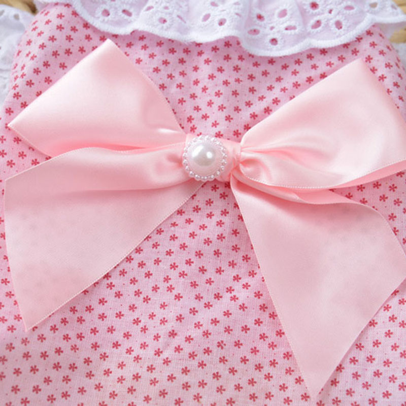 Sweet Pet Cat Clothes Lace Shirt for Cat Puppy Small Dog Spring and Summer Cute Bowknot