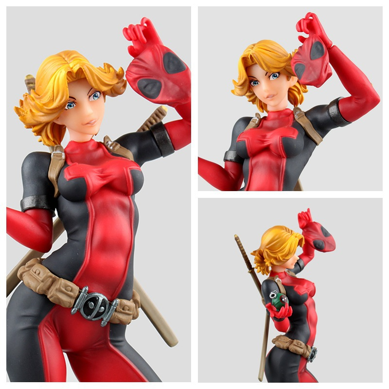 Revoltech X-men Deadpool Figure Deadpool Girl PVC Action Figure Brinquedos Figuras Anime Collectible Kids Toys Doll 23cm
