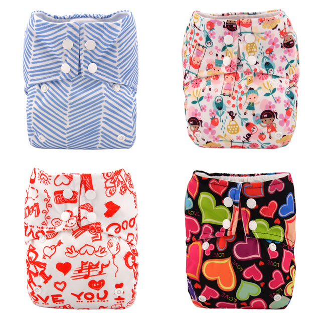 Super Aio Cloth Diapers One Size Adjustable Baby Diapers Washable Aio Diaper for NB to 38lbs+