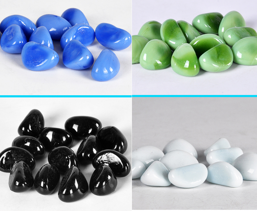 Buy glass marble pebble stones 50 pcs for for Fish tank marbles