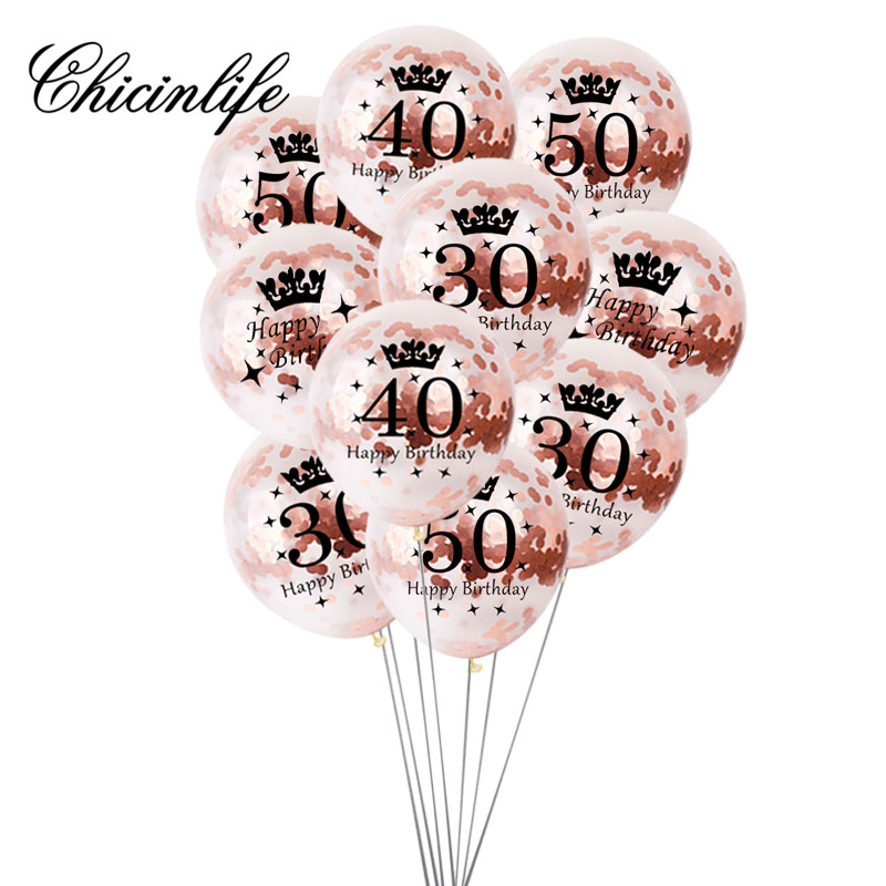 More Happy 30th Birthday Balloons Amazon Chicinlife 10pcs Rose Gold Inflatable