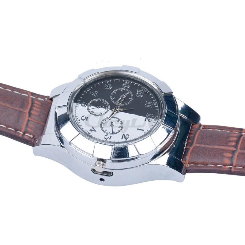 Fashion-Rechargeable-USB-Lighter-Watch-Electronic-Men-s-Casual-Quartz-Wristwatches-Windproof-Flameless-Cigarette-Lighter-WL4 (4)