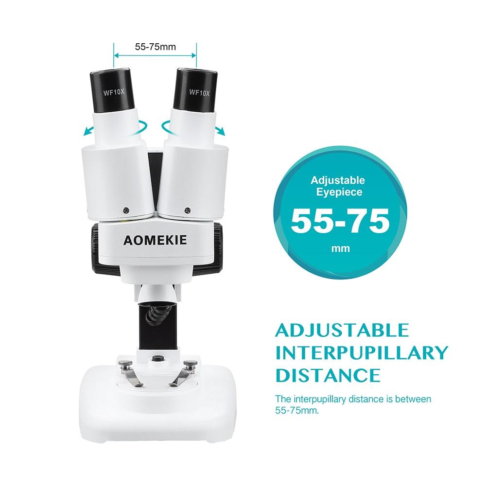 Microscopio stereo AOMEKIE 20X binoculare con LED per strumento di - Strumenti di misura - Fotografia 4