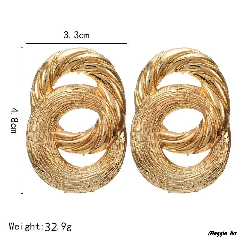 luxury gold earrings pendientes mujer kolczyki slubne boucle d 39 oreille femme 2019 pendientes mujer moda tenes feminino oorbellen in Drop Earrings from Jewelry amp Accessories