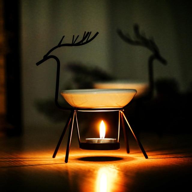 Kaarsen Op Olie.Us 8 7 8 Off 70 Ml Capaciteit Olie Brander Rvs Herten Brander Kaars Aromatherapie Olie Lamp Decoraties Aroma Furna Wierook Base In 70 Ml Capaciteit