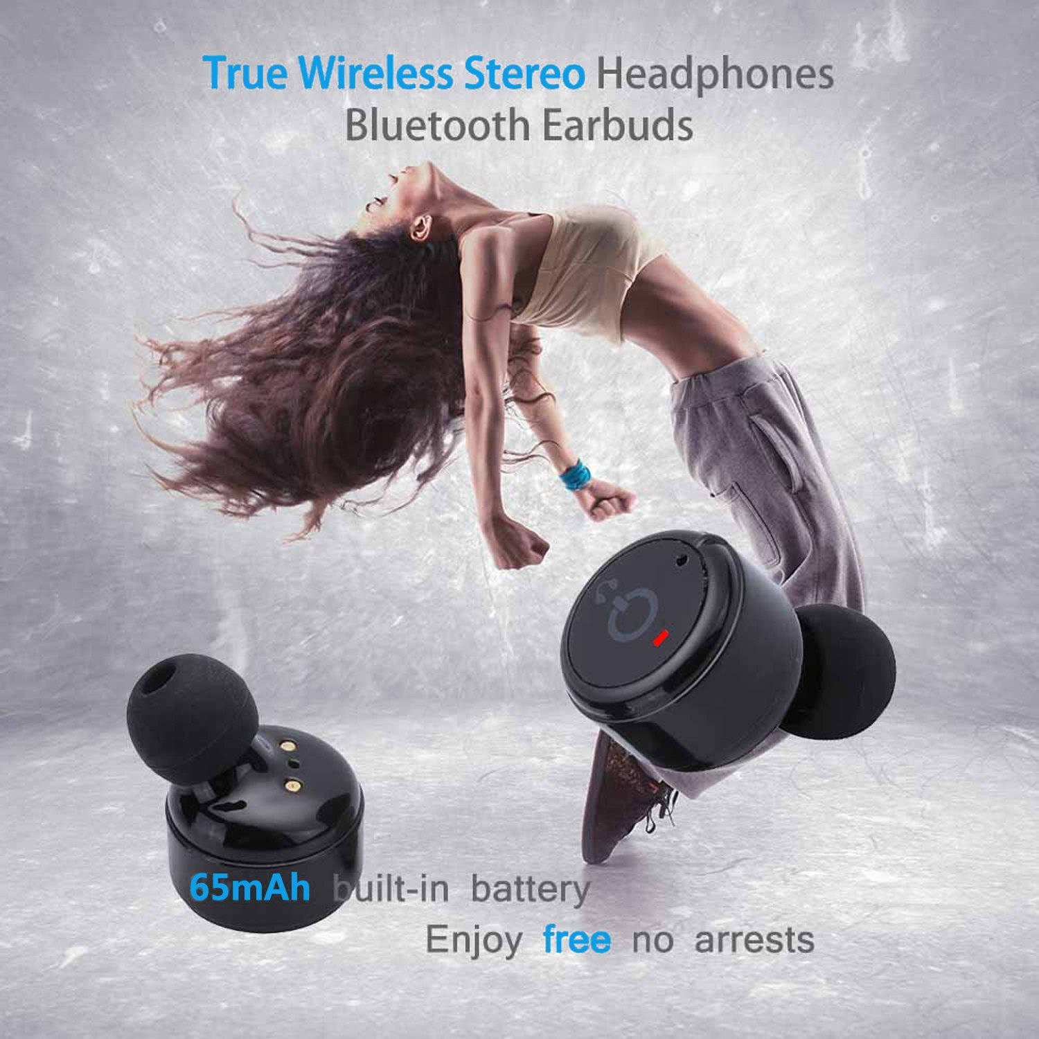 Wireless Earbuds In Ear Bluetooth 4 2 Headphones Mini Headsets Noise Cancelling Invisible Stereo Earphones Mic Phone Android in Bluetooth Earphones Headphones from Consumer Electronics