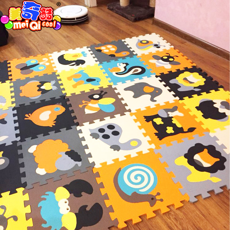 18pcs Cartoon Animal Pattern Carpet EVA Foam Puzzle Mats Kids Floor Puzzles Play Mat For Children Baby Play Gym Crawling Mats actionclub 0 2year baby toy baby play mat game boys girls educational crawling mat play gym kids blanket carpet