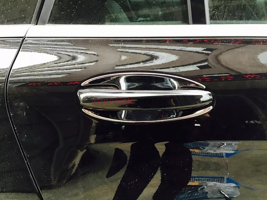 ABS Chrome plastic Side Door Handle Bowl Cover Trim 8pcs For Mercedes Benz GLC Class X205 2015-2016