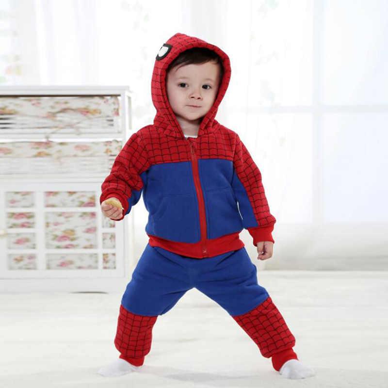 Baby Superman Neugeborenen Strampler Babe Tier Super Hero Cosplay Kostüm Outfit Mit Kapuze Fantasie Anime Winter Zu Hause Kleidung