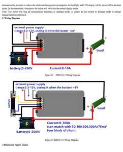 Image 4 - 9in1 DC קומבו מד סוללה צג מתח הנוכחי כוח קיבולת פנימי התנגדות/SOC/זמן/עכבה בודק וולט amp