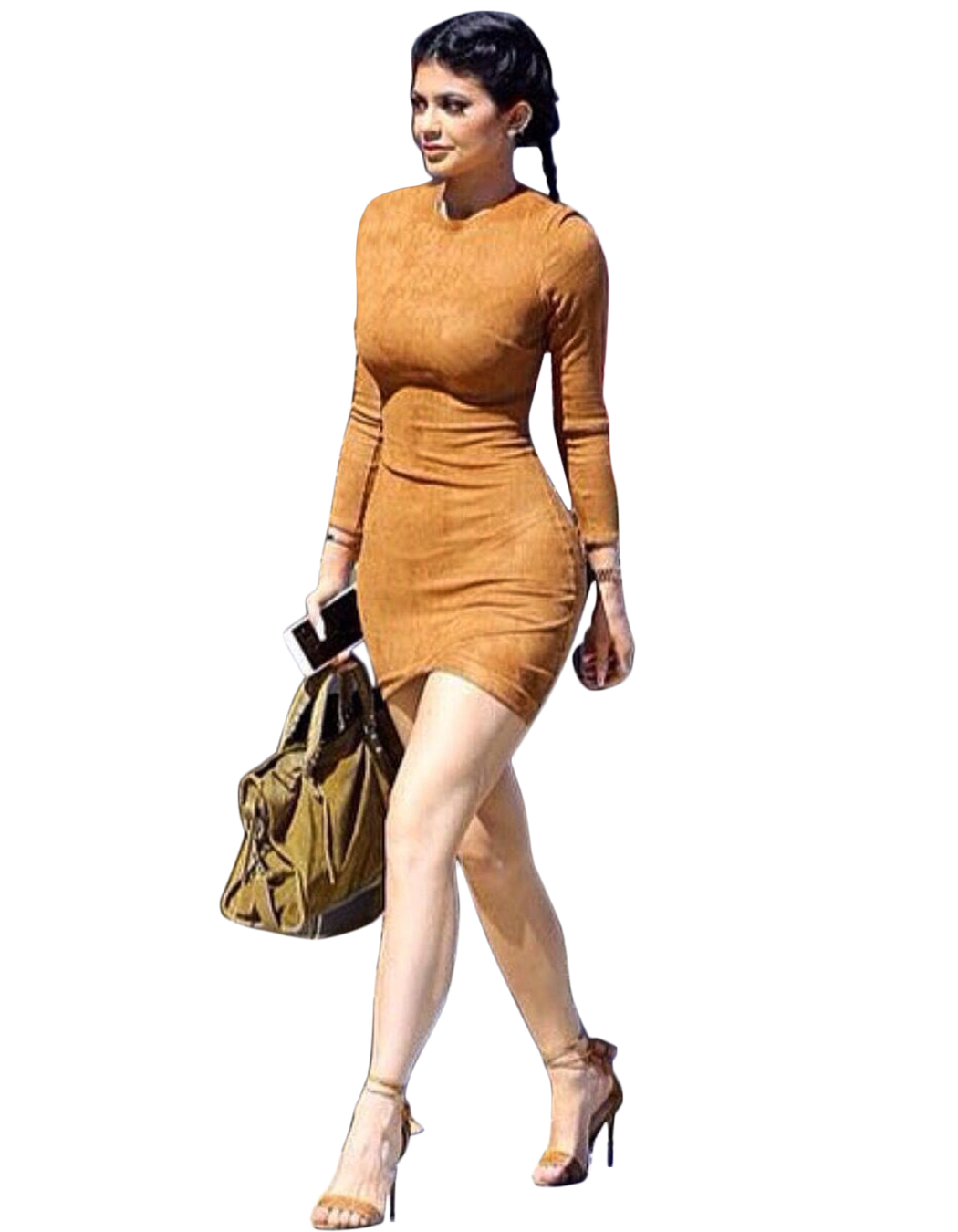 Plus Size S XL Solid Bodycon Dress Hot Fashion O neck Long Sleeve ...