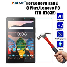 XSKEMP 9H Premium Screen Protector Tempered Glass For Lenovo Tab 3 8 Plus/Lenovo P8(TB-8703F) HD Tablet PC Screen Protector Film