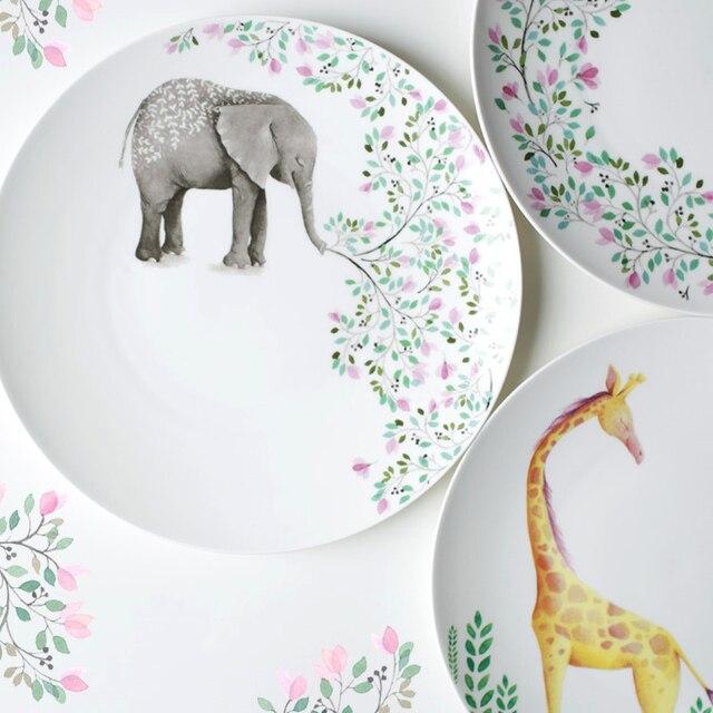 10 Inch Ceramic Plates Round Dishes Bone China Cartoon Character ...