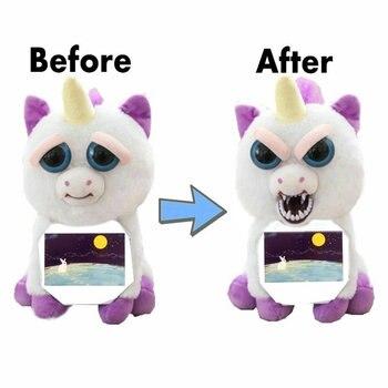 Tức Giận Vật Nuôi thay đổi mặt Kỳ lân sang trọng unicornio Búp Bê Gấu Trắng chích Đồ chơi thú nhồi bông Búp bê đồ chơi dành cho trẻ em Chrismas Lừa