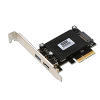 2 Ports usb3.1 to PCIE PCI Express card with 15p sata power port chip ASM1142 Wholesale