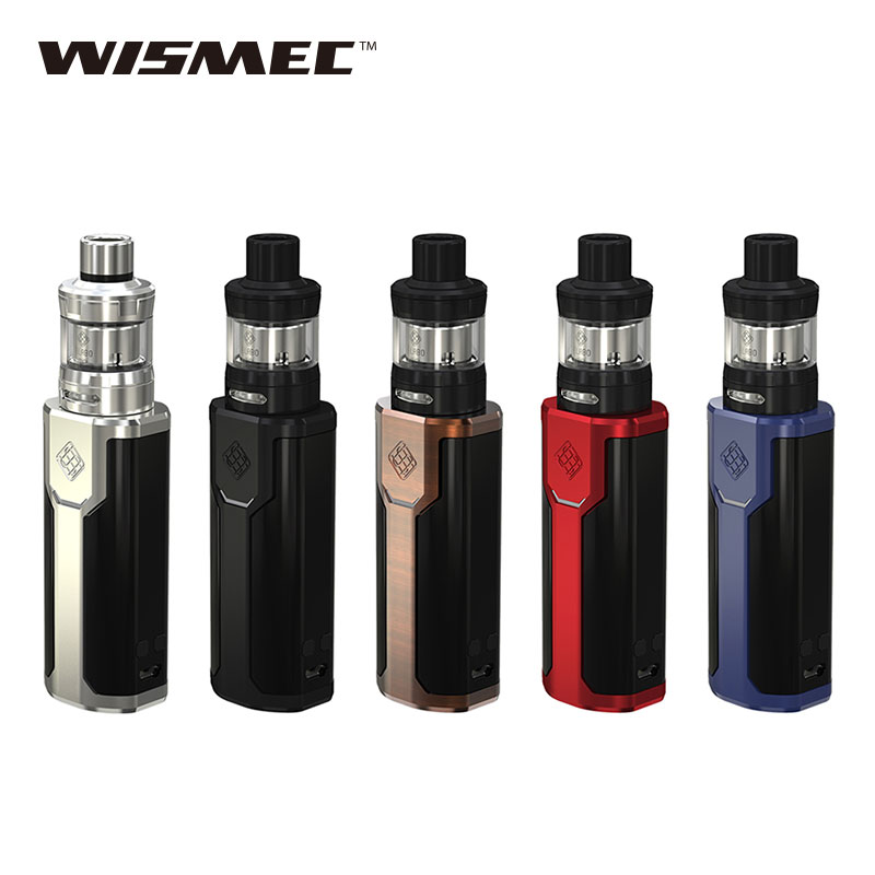 Original 80W WISMEC SINUOUS P80 TC Vape Kit with 2ml Elabo Mini Tank & 80w SINUOUS P80 TC Mod & 0.2ohm Head No 18650 Battery original wismec sinuous p80 kit with elabo mini tank 2ml 80w max output mod box uses single 18650 battery electronic cigarette