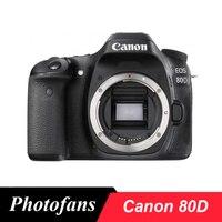 Lustrzanka cyfrowa Canon 80D 24.2MP ekran dotykowy o zmiennym kącie wideo wi fi w Aparaty DSLR od Elektronika użytkowa na
