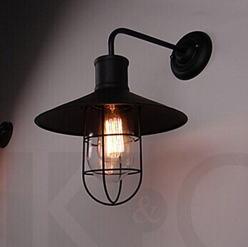 ФОТО Max 40W,Retro Loft Style Industrial Vintage Decor Wall Lamp Light Edsion Wall Sconce,AC,E27,Bulb Included