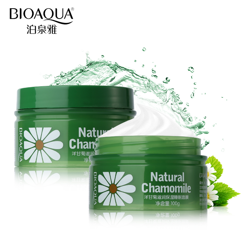 BIOAQUA 100g Chamomile Night Cream Face Serum Anti Aging Sleeping Mask Skin Care Moisturizing Whitening Night Mask Essence Cream korean collagen pig skin face mask 100g anti aging cream anti wrinkle magic facial mask ageless products cosmetics bioaqua page 9