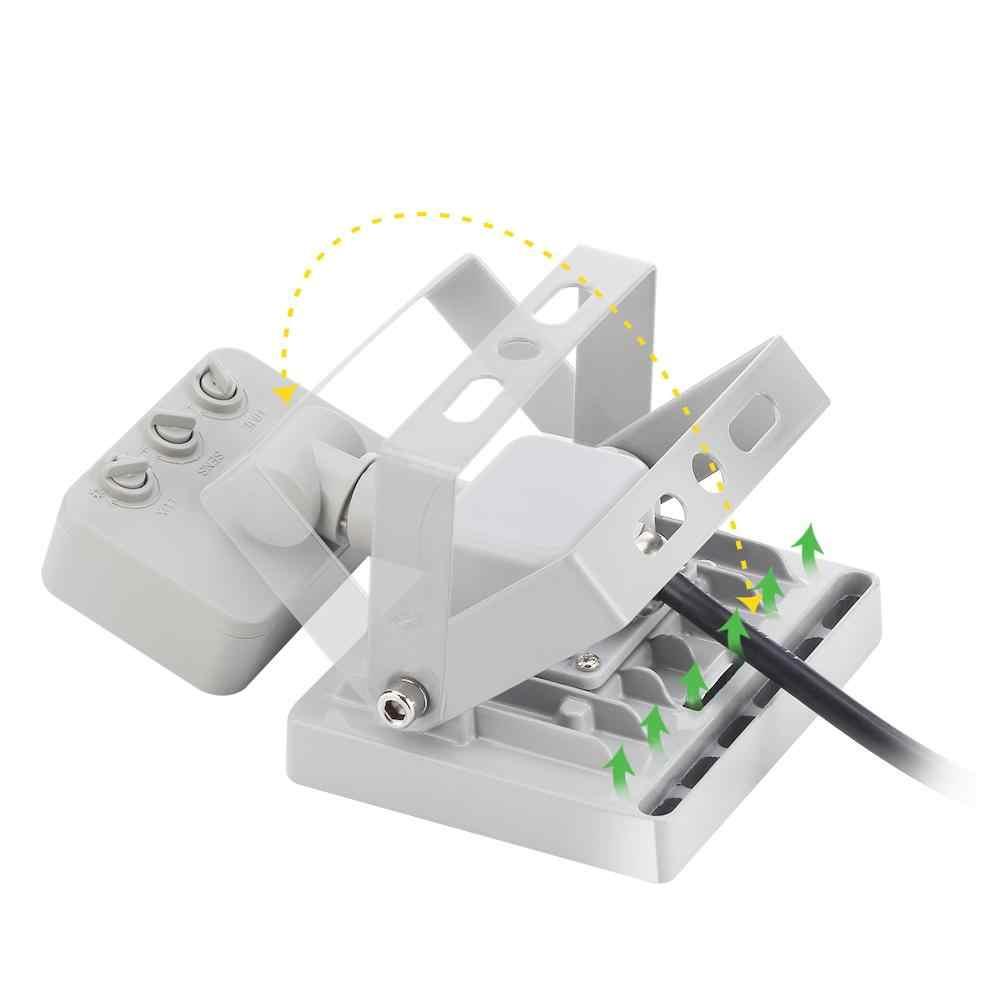 10 W/20 W/30 W/50 W/100 W LED Sensor de movimiento Reflector 220-240V lámpara de búsqueda IP65 Reflector foco LED para exterior Luz de punto