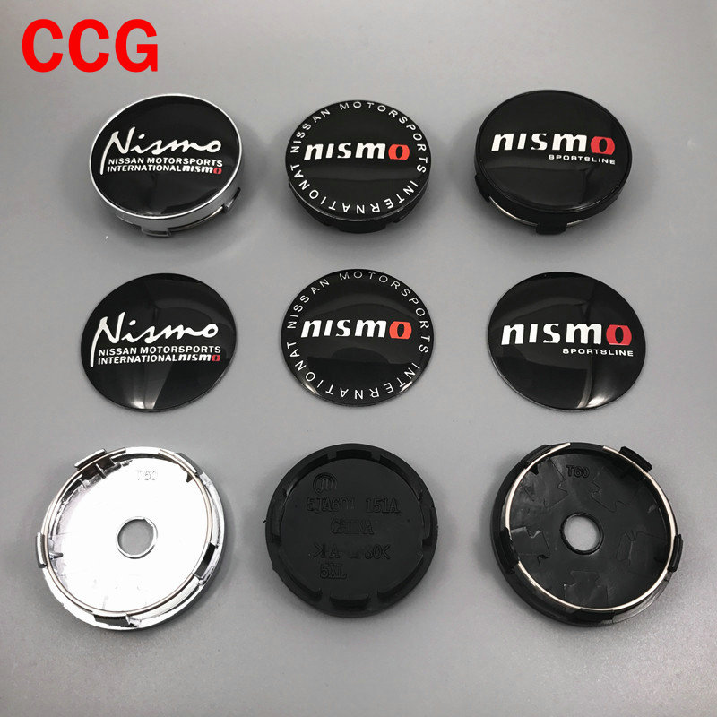 4 pçs 56mm 60mm nismo logotipo do carro roda centro hub tampa aro emblema reequipamento à prova de poeira cobre decoração criativa emblema adesivo estilo