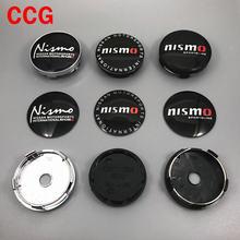 4 pçs 56mm ou 60mm nismo logotipo do carro emblema roda centro hub tampão aro automático reequipamento à prova de poeira crachá cobre adesivo estilo acessórios