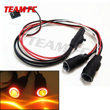 2pcs Top Quality 5mm Angel & Demon Eyes 2Leds LED Headlight Back Light For 1/10 RC Car Red+White Green+White Orange+White S254(China)