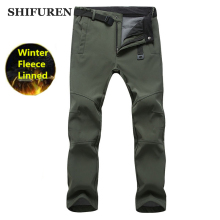 SHIFUREN Men Hiking Pants Waterproof Winter Thermal Fleece Soft Shell Outdoor Camping Climbing Trekking Trousers Plus size S-3XL антистатические салфетки аромат лаванды 80 шт