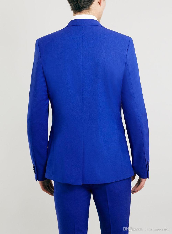 bouton D'honneur Costume Palefreniers Hommes Mariage Arrivée Picture Slim Bleu 2 Pour Pièces Les Fit De Nouvelle Smokings Garçons Deux Costumes As aUwxqEqFS
