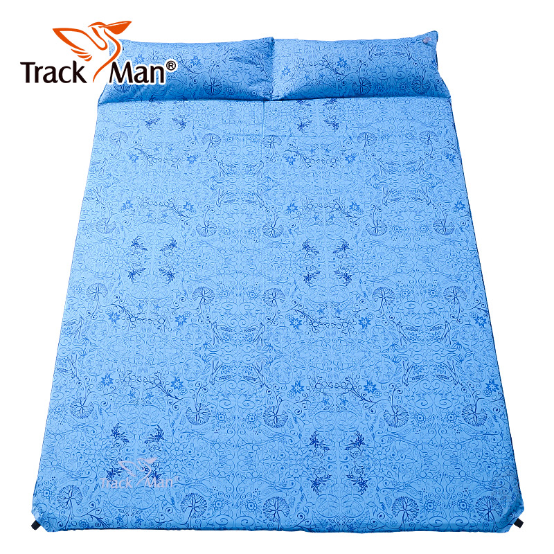 Trackman 2 Person Self-Inflating Pad Inflatable Mattrress Travel Hiking Park Fishing Moisture-proof Beach Outdoor Camping Mat hewolf outdoor 2 person automatic inflatable mattress cushion picnic mat inflating hiking camping travel beach moisture pad