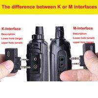 מכשיר הקשר 2pcs מכשיר הקשר אוזניית Bluetooth K / M ממשק אוזניות כף יד שני הדרך רדיו אלחוטי באפרכסת אופנוע Baofeng (3)