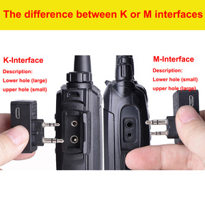Image 3 - 2PCS Walkie Talkie Bluetooth Headset K/M Interface Kopfhörer Handheld Zwei Weg Radio Drahtlose Ohrhörer Für Motorrad Baofeng