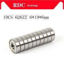 10 шт./лот ABEC-5 626ZZ 626z 626 zz 6X19X6 металлический уплотнитель миниатюрный высококачественный глубокий шаровой подшипник 626ZZ 6*19*6 мм