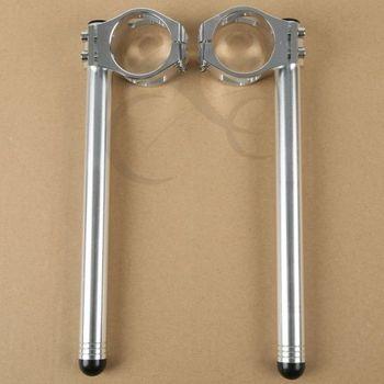 50mm Silver Clip on Handle Bars For Honda CBR 1000RR 2004-2010 06 08