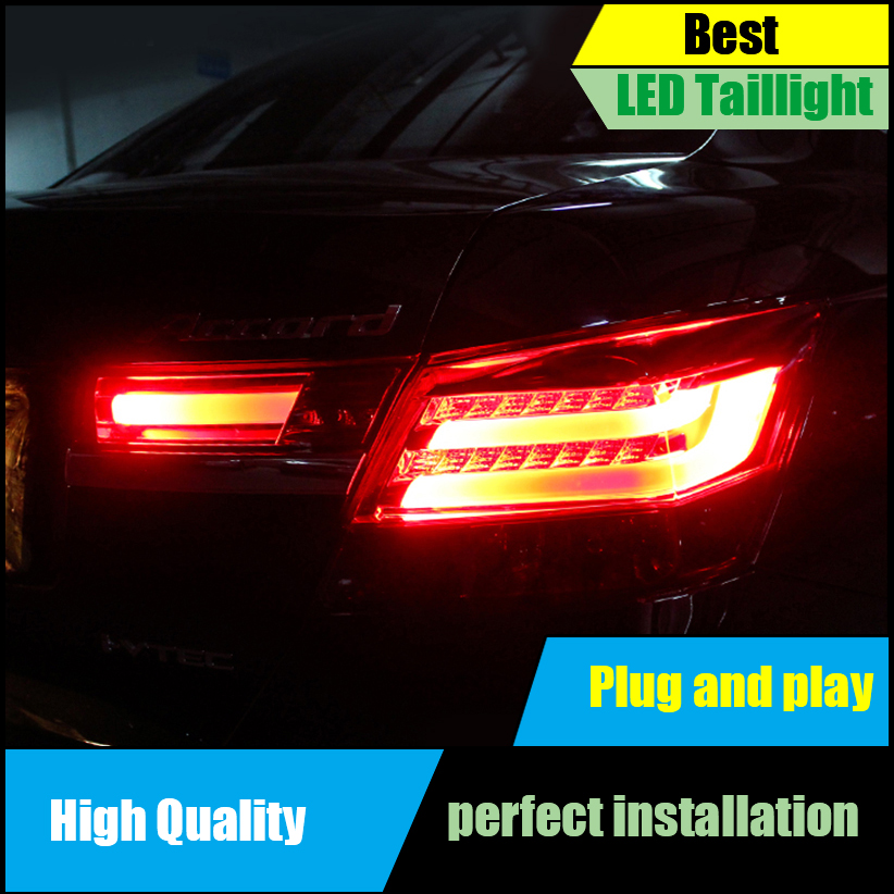 Car Styling Taillight For HONDA Accord 8th 2008-2012 Taillights LED Tail Light LED Rear Lamp DRL+Brake+Reversing+Signal LIGHT hireno tail lamp for mercedes benz w220 s280 s320 s350 s500 s60 1998 05 led taillight rear lamp parking brake turn signal light