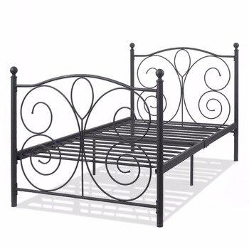 Tienda Online Giantex tamaño doble cama de metal Marcos Plataforma 6 ...