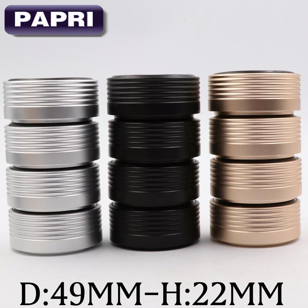 Papri 49 22mm aluminum alloy anodized sand blasting speaker feet pad for audio tube amplifier