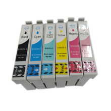 Vilaxh T0821 T0821N Ink Cartridges For Epson R270 R390 T50 T59 RX590 TX650 TX700W TX800W T50 TX720 TX700 TX800 RX610 free shipping 100ml x 6 color t0821n t0822n t0823n t0824n t0825n t0826n edible ink for epson t50 t59 inkjet printer