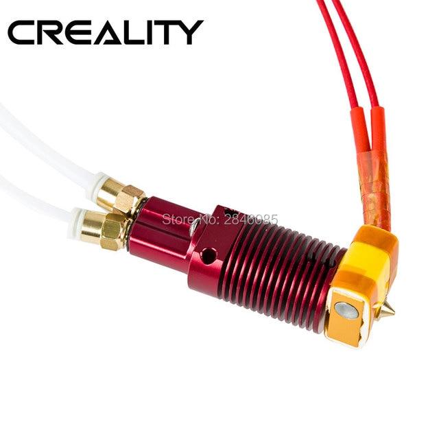 組み立て押出機ホットエンド用creality 3DプリンタCR Xデュアルカラー印刷ノズルプリンタアルミ加熱ブロック